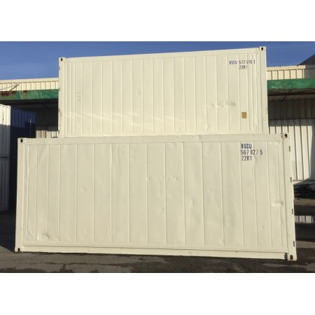 Container isotherme 20 pieds reefer sans groupe, reconditionné