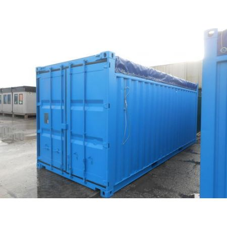 Container 20 pieds Open Top occasion reconditionné (Ext traité repeint)