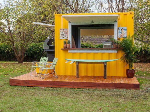 abri de jardin container bbq